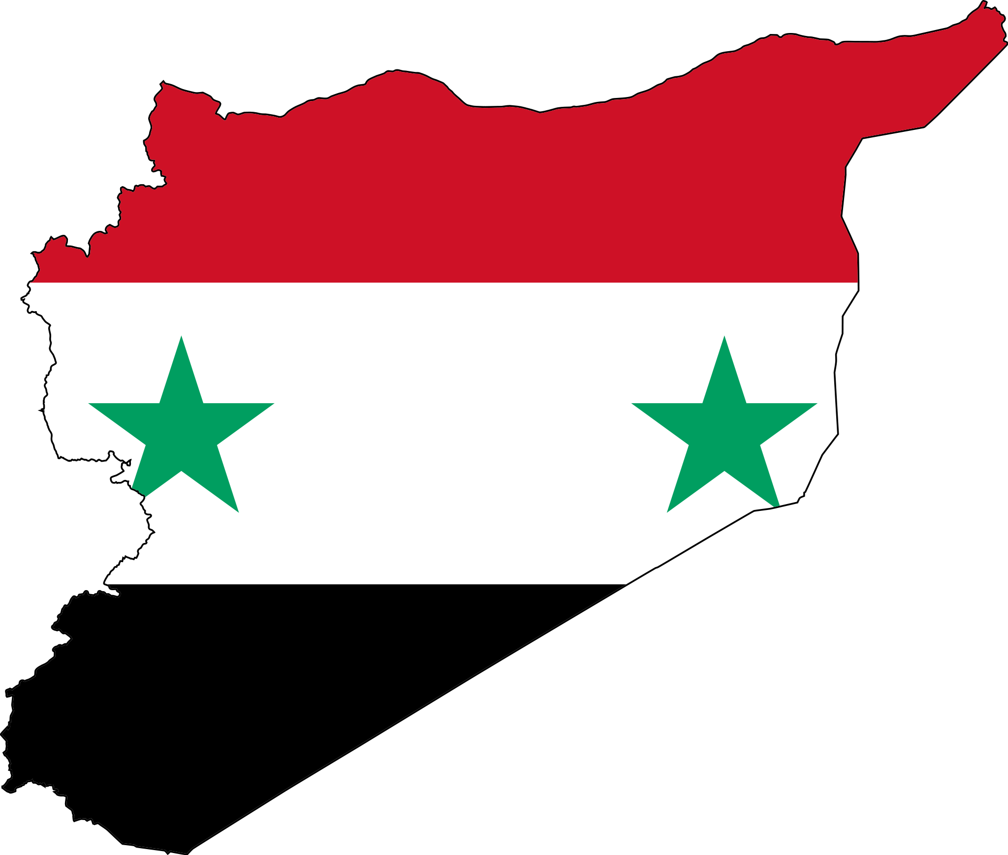 Syria Flag Map large map