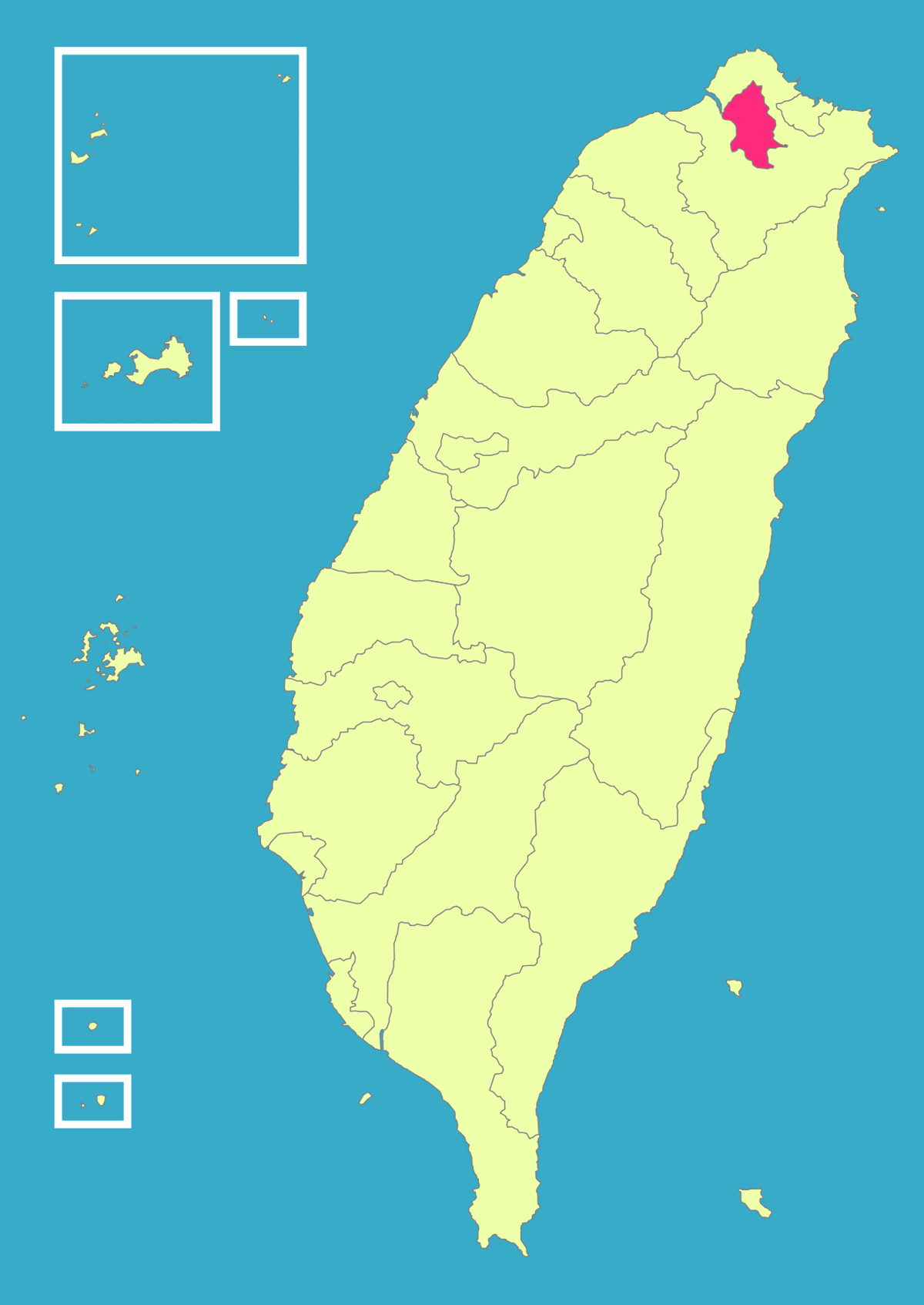 Taiwan Roc Political Division Map Taipei City large map