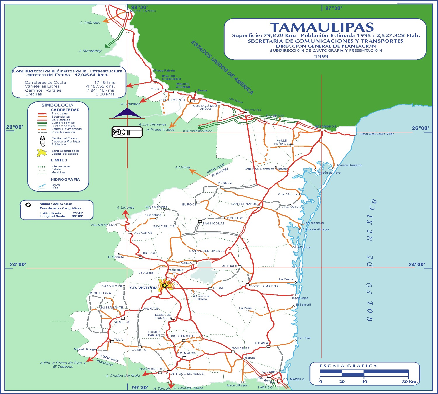 Tamaulipas Mexico Road Map Mapsofnet - Mexico road map