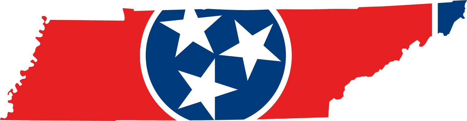 Tennessee Flag Map large map