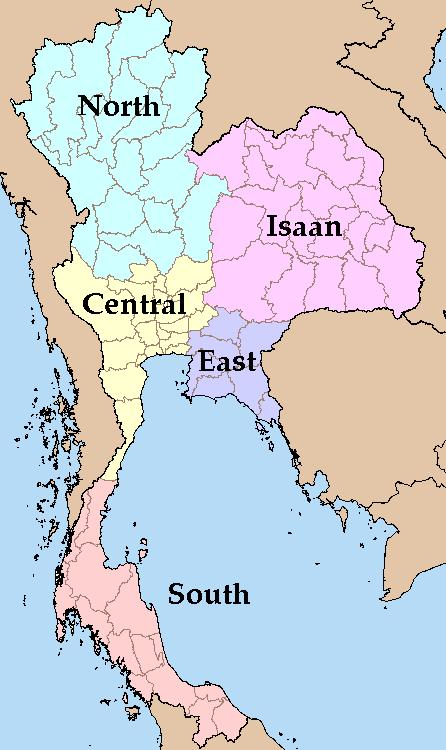 Thailand Regions Mapsof Net