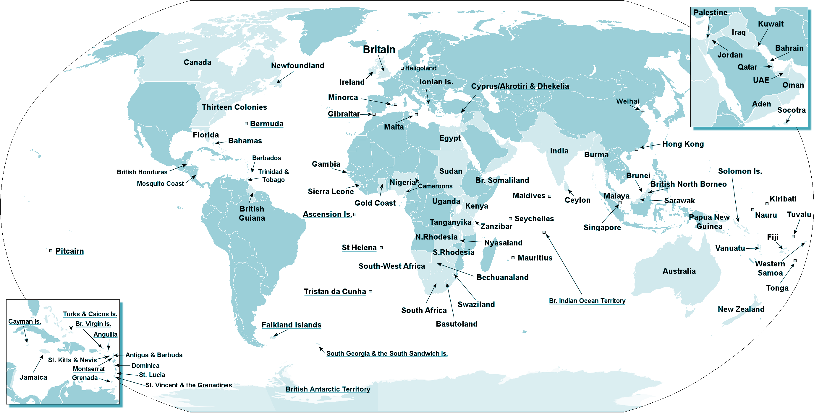 The British Empire large map