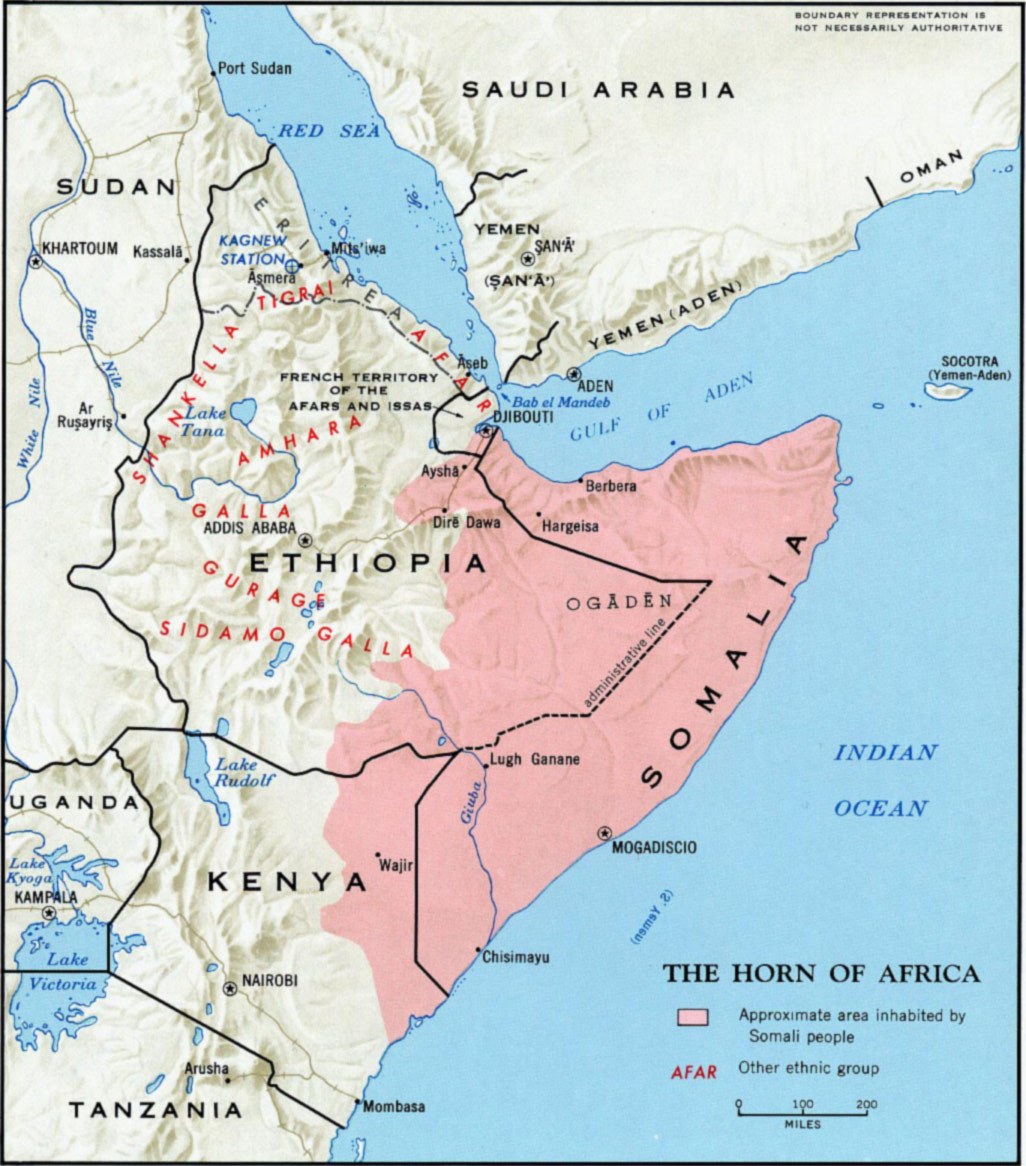 The Horn of Africa Map