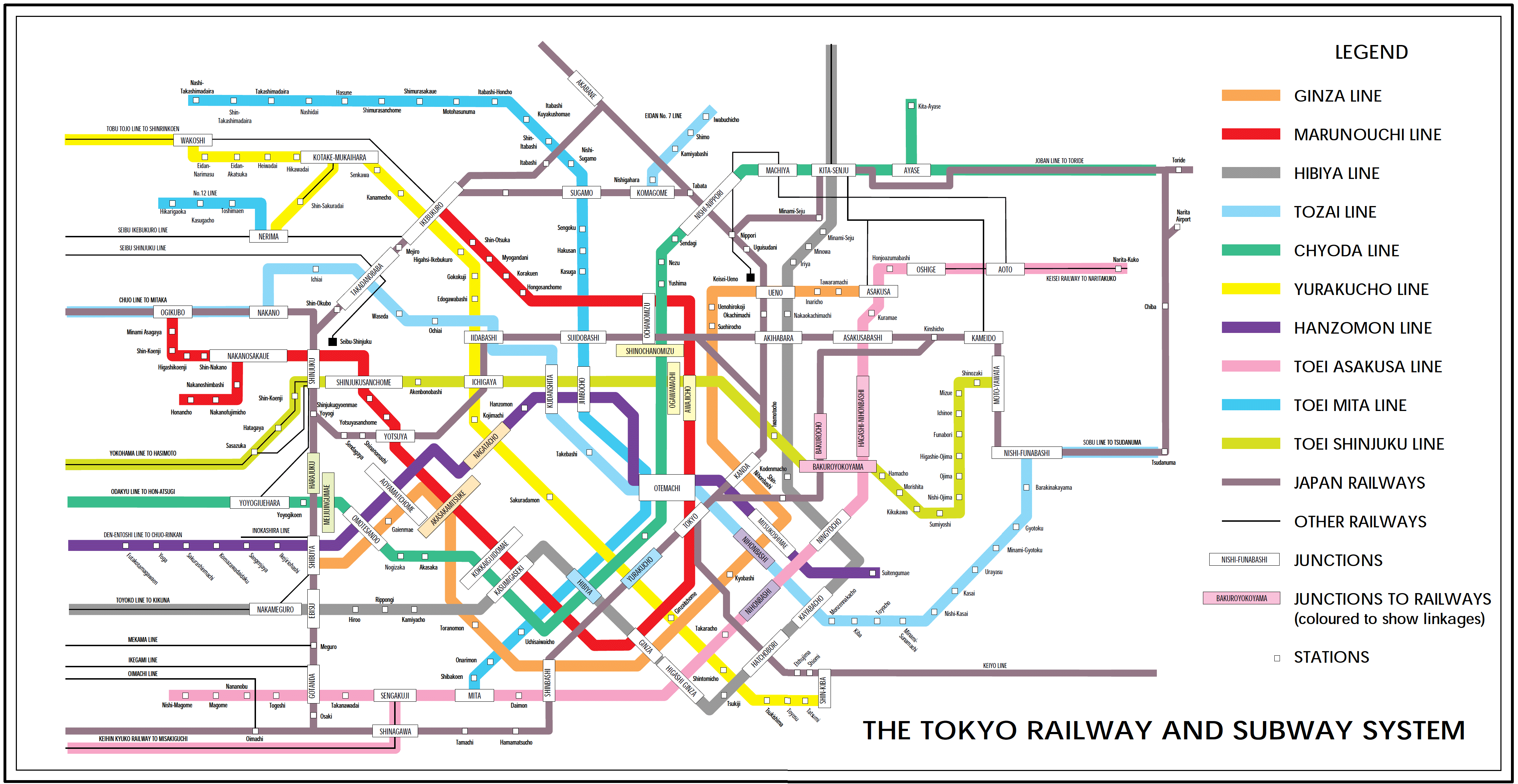 Tokyo railway and subway map mapsof click on the tokyo railway and subway map sciox Image collections