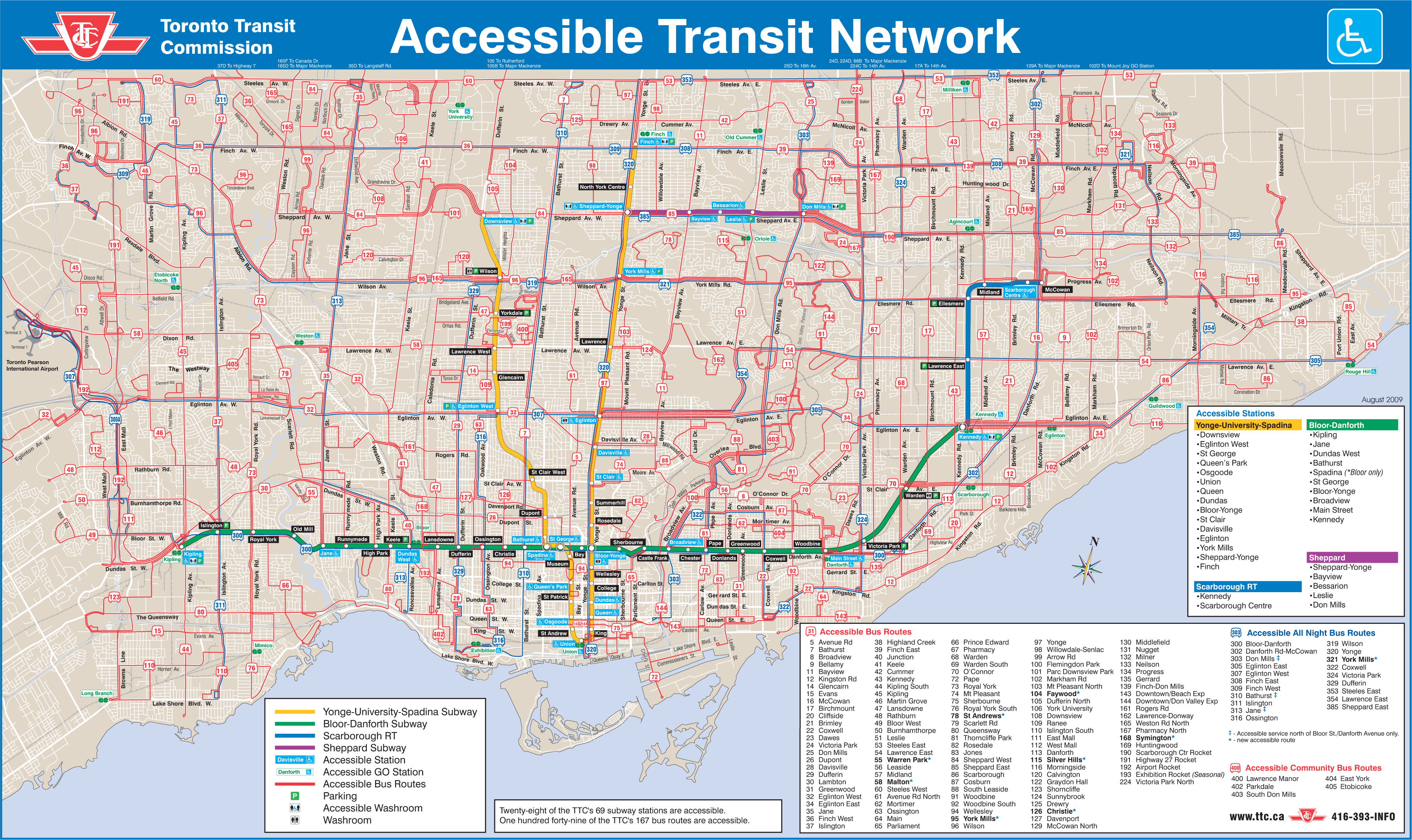 Toronto Transport Map • Mapsof