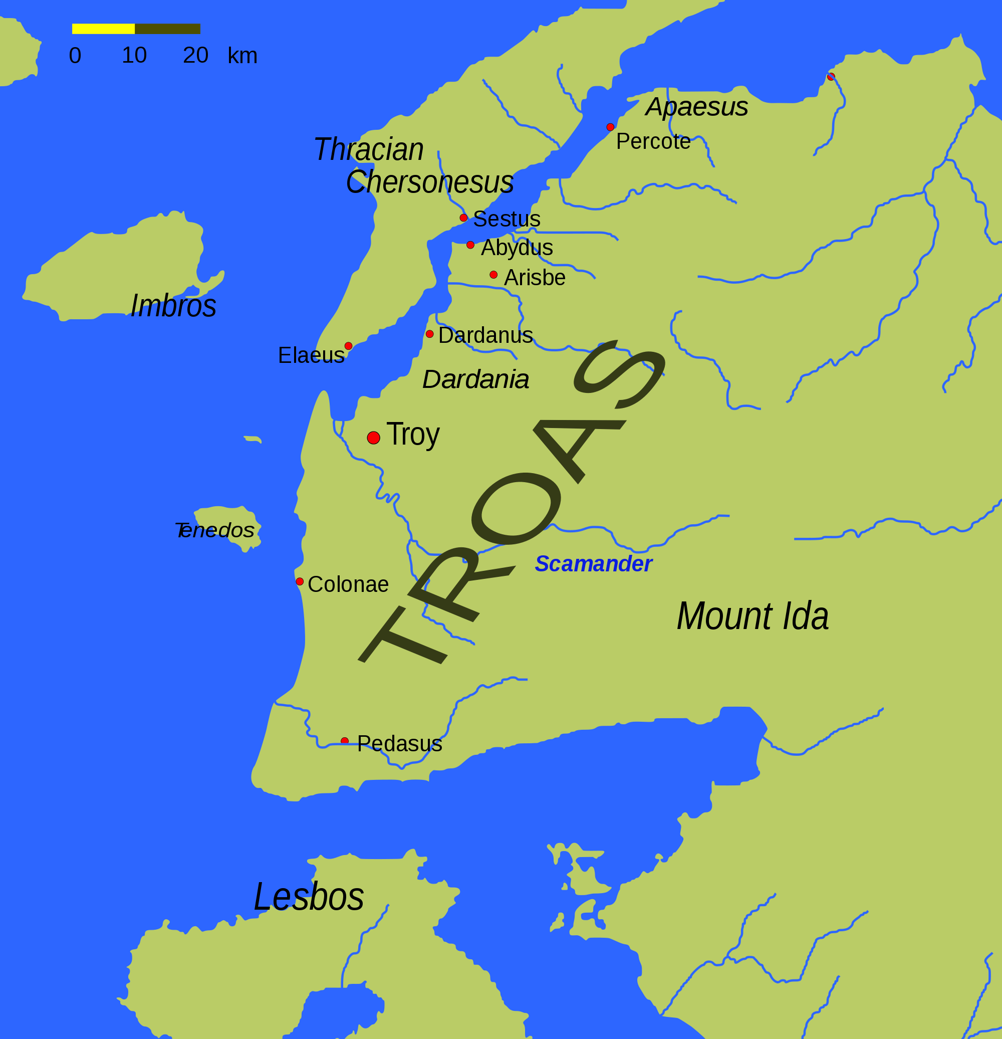 Troas large map