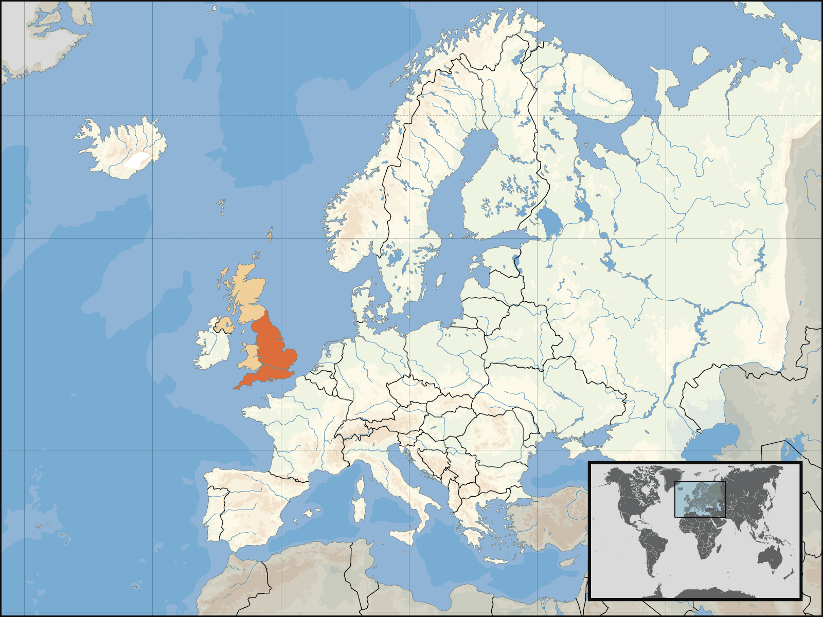 Uk Europe Location Mapsofnet