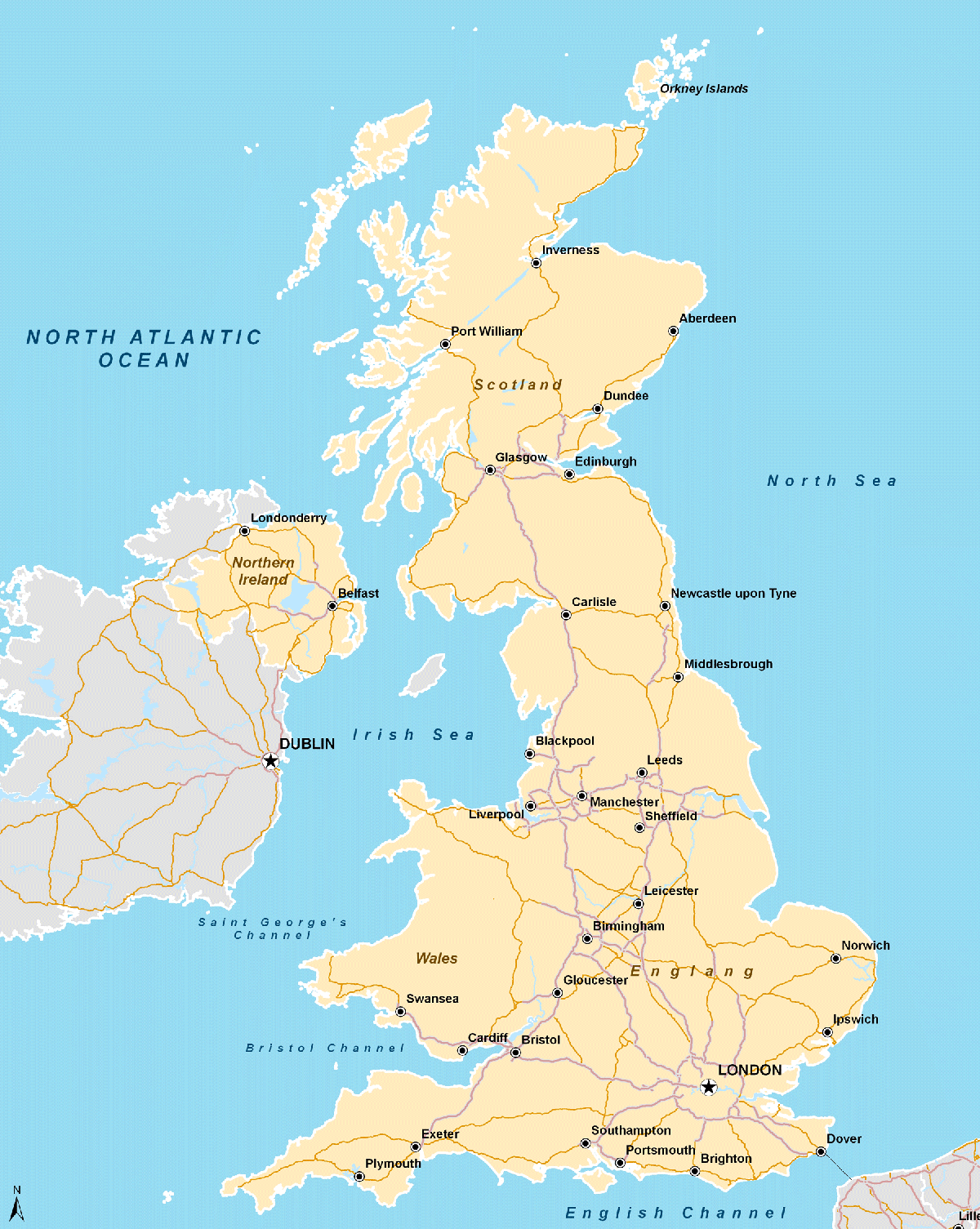Uk Map Mapsof Net