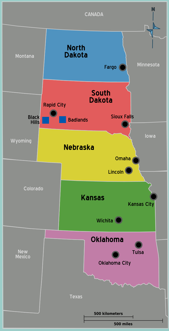 Usa Great Plains Map Mapsofnet