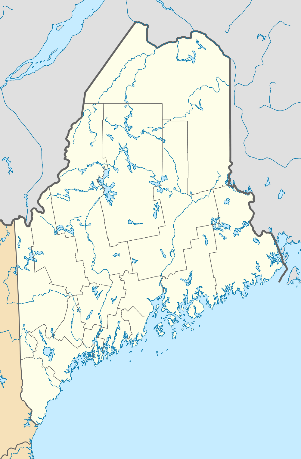 Usa Maine Location Map Mapsofnet - Map of maine rivers