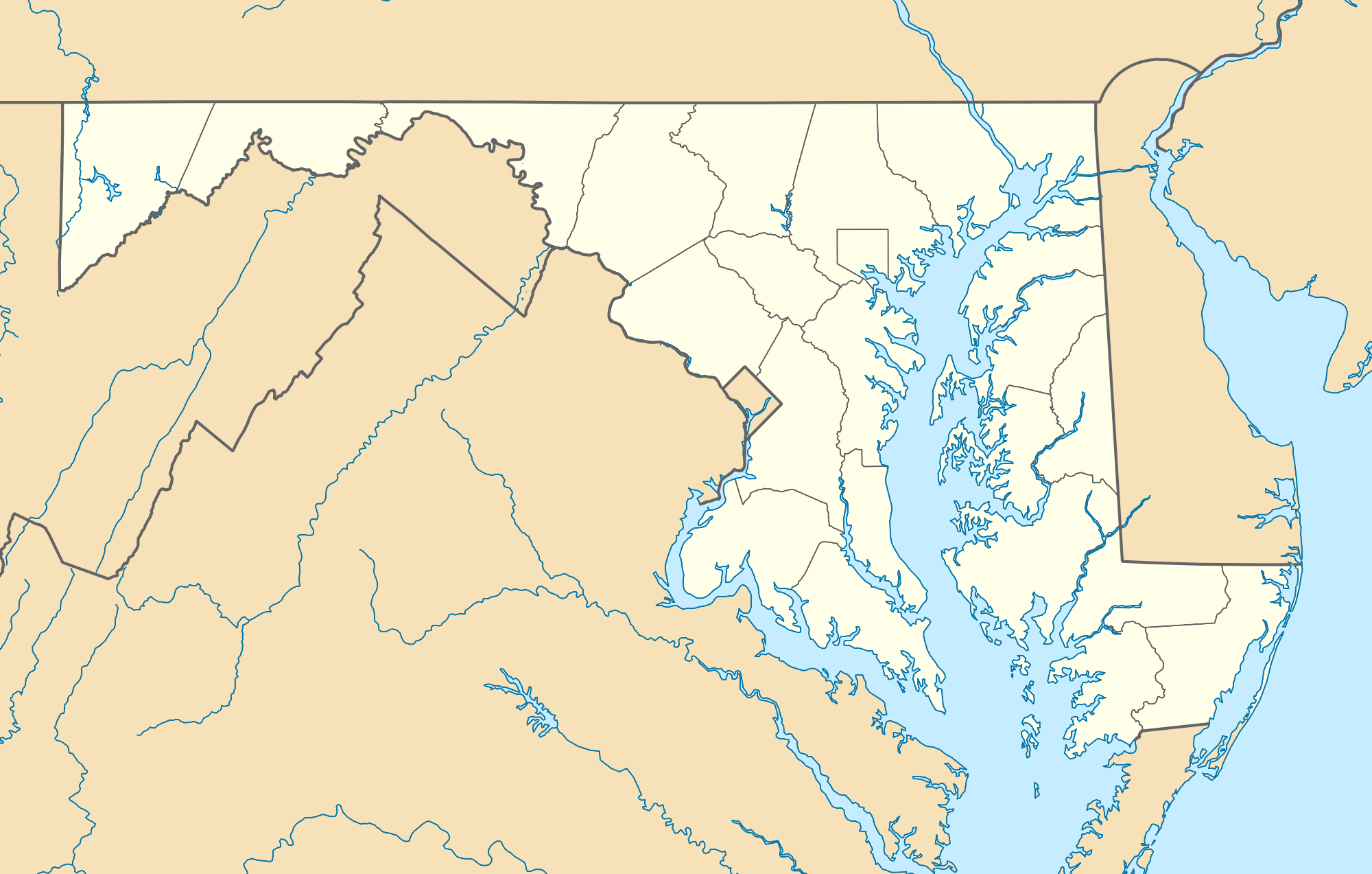 Usa Maryland Location Map large map