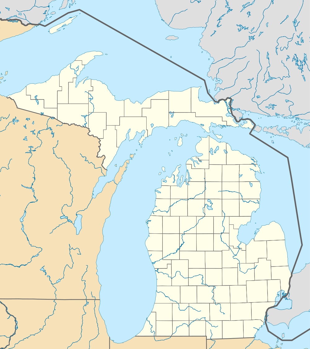 Usa Michigan Location Map large map