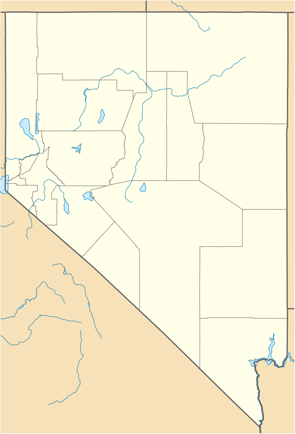Usa Nevada Location Map large map