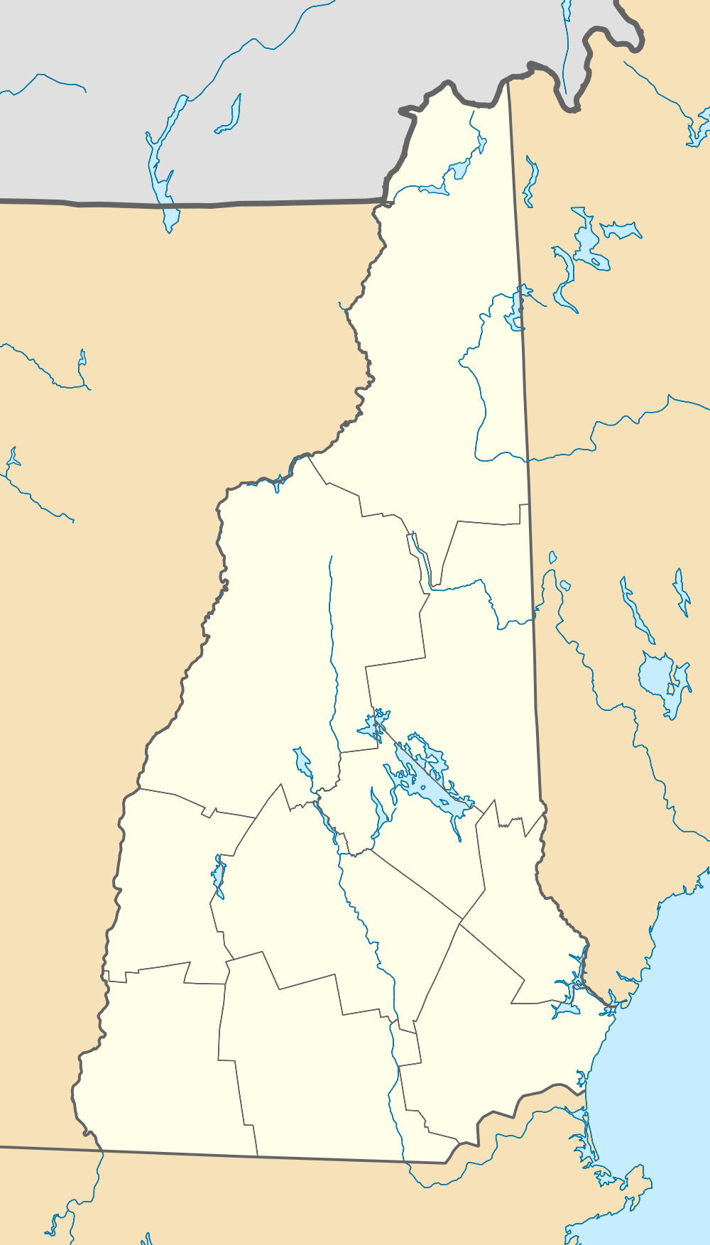 Usa New Hampshire Location Map
