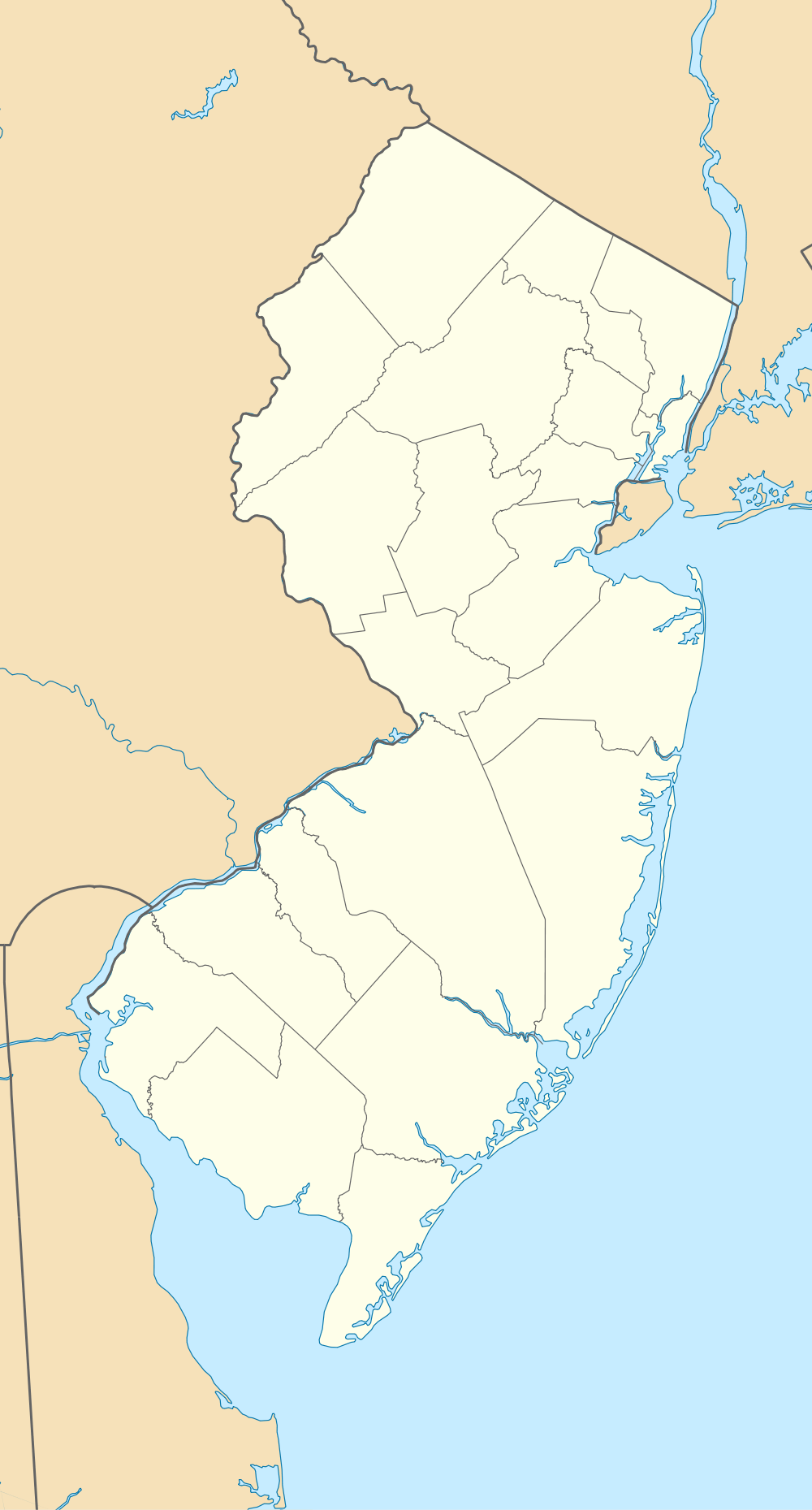 Usa New Jersey Location Map large map