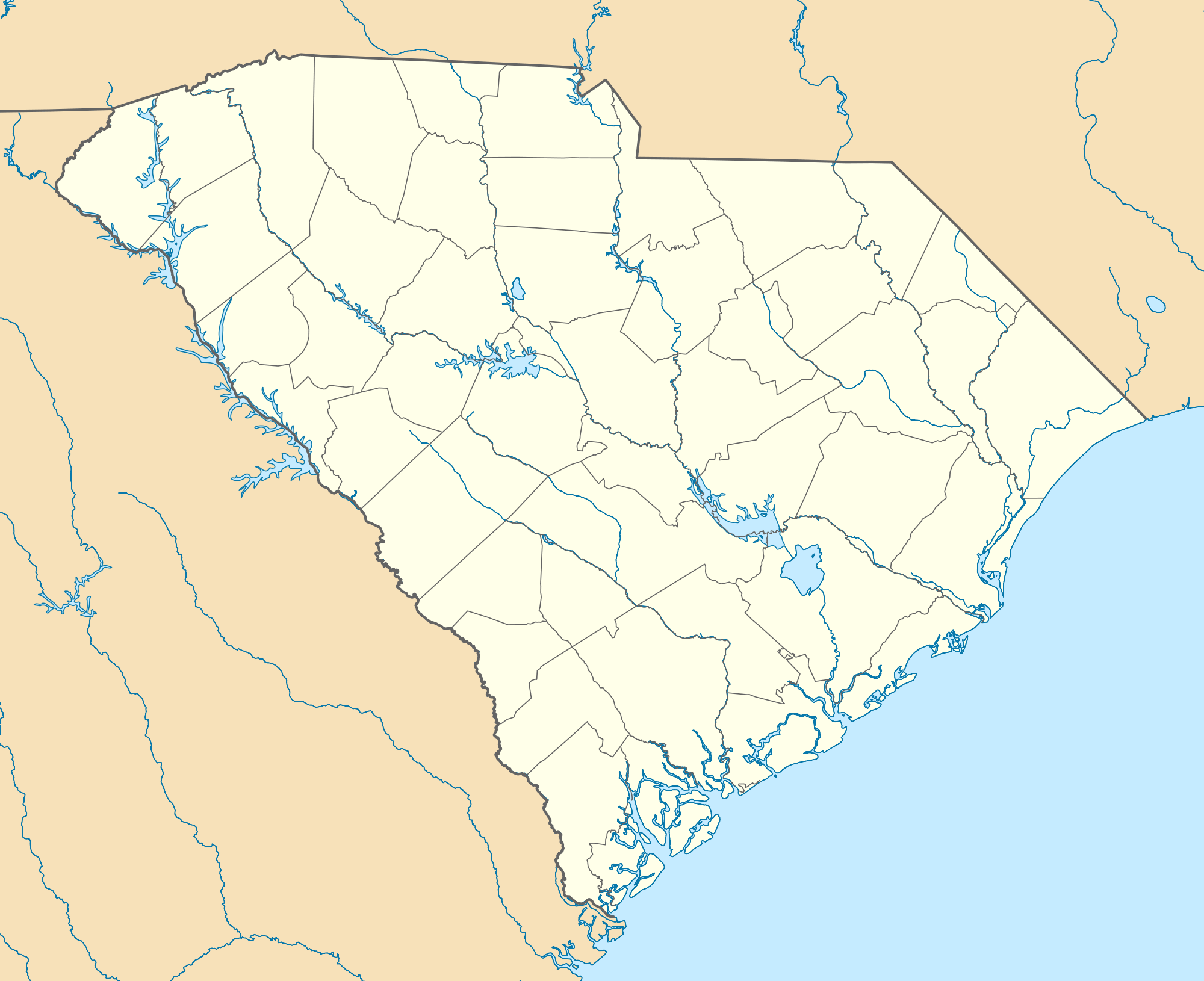 Usa South Carolina Location Map large map