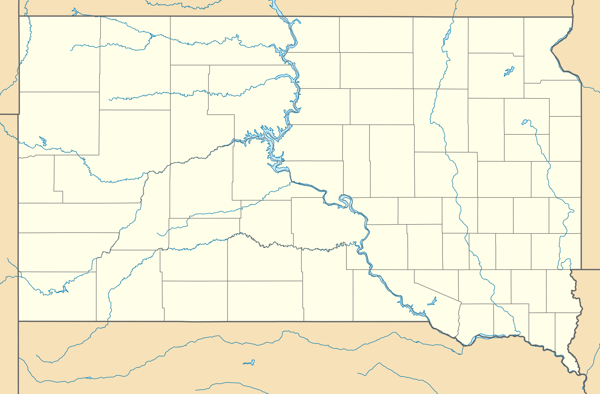 Usa South Dakota Location Map large map
