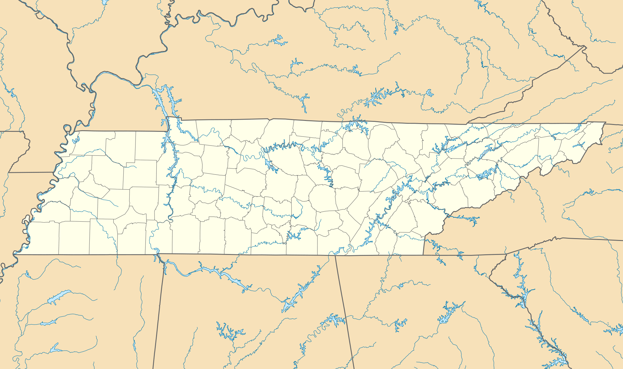 Usa Tennessee Location Map large map