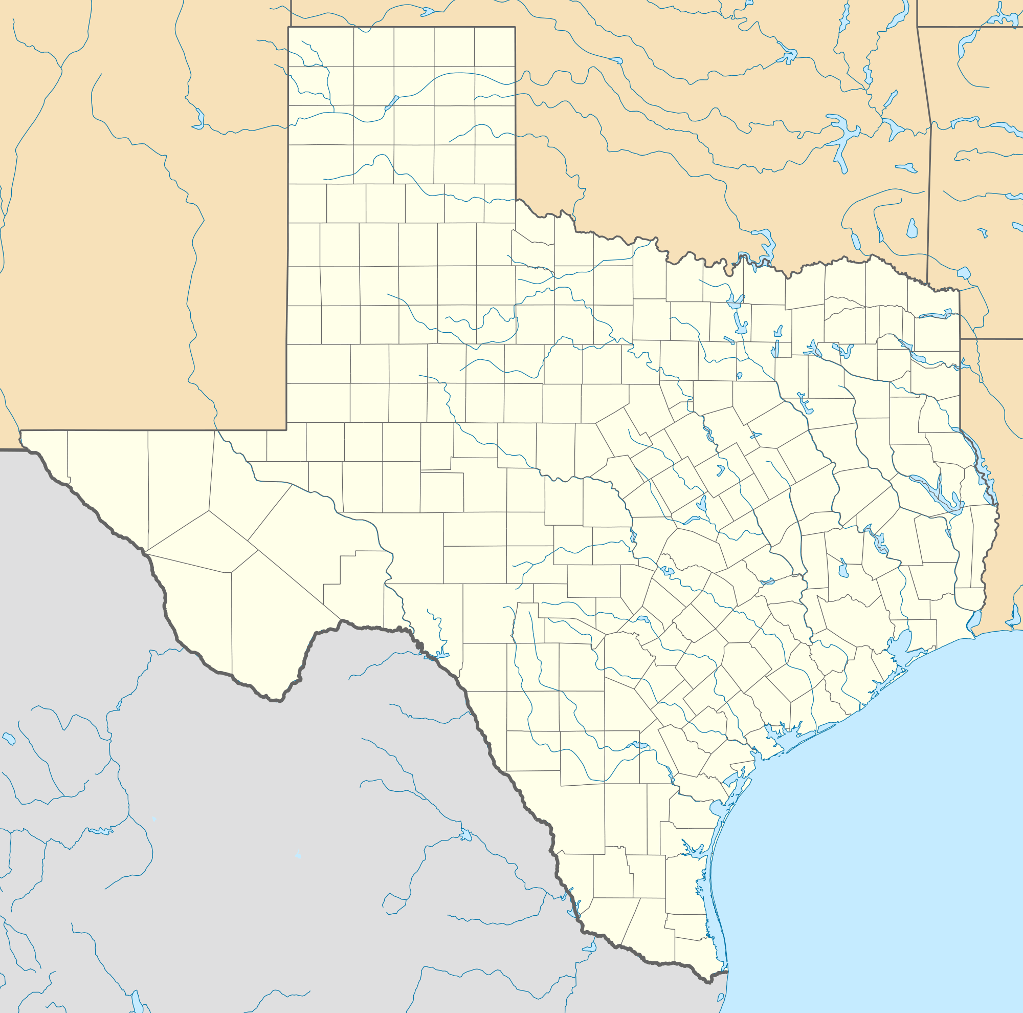 Usa Texas Location Map large map