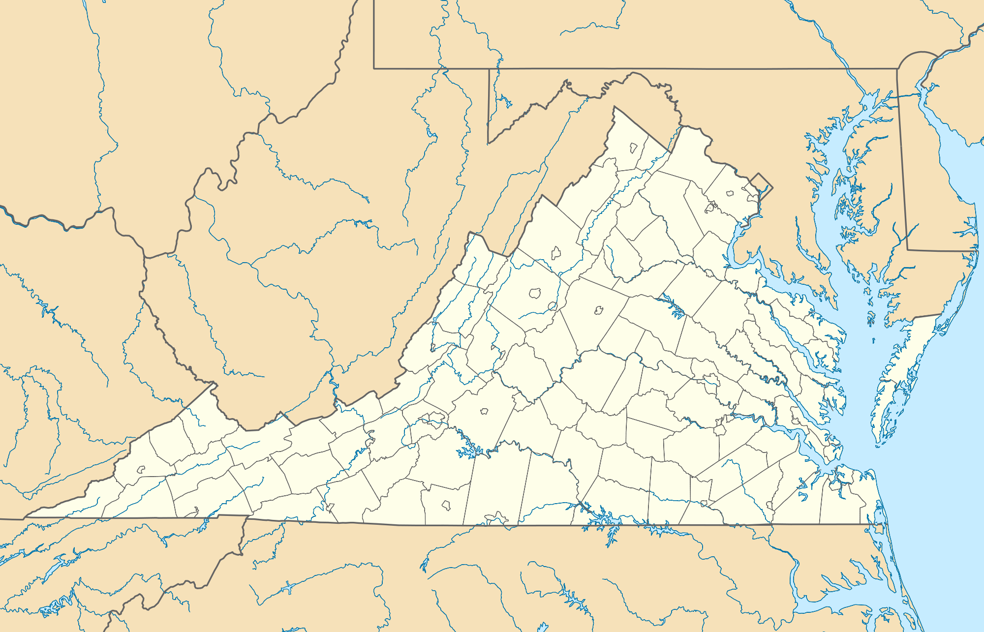 Usa Virginia Location Map