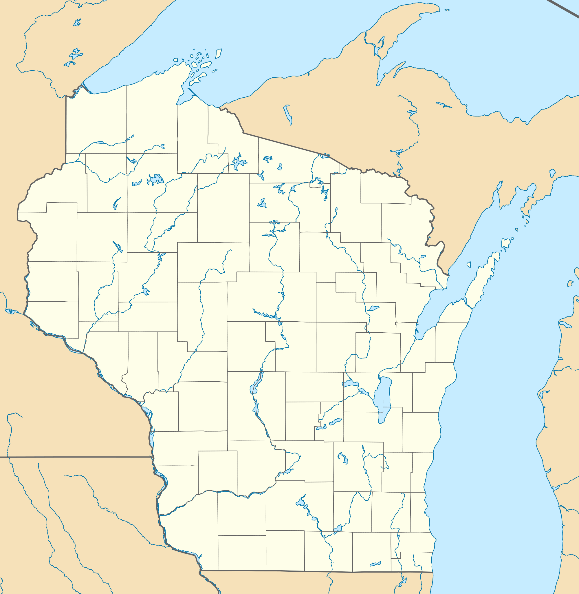 Usa Wisconsin Location Map large map