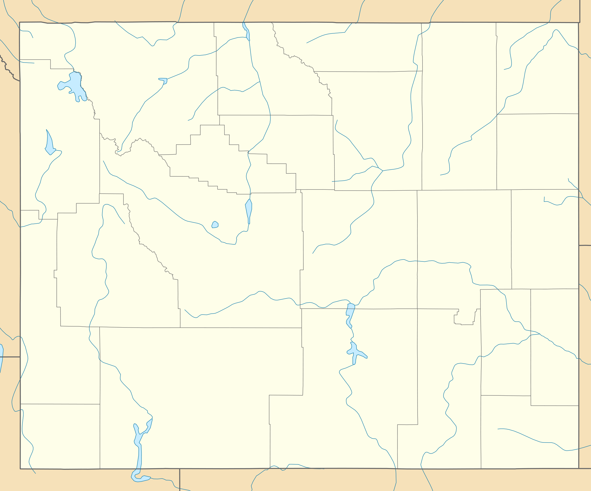 Usa Wyoming Location Map large map