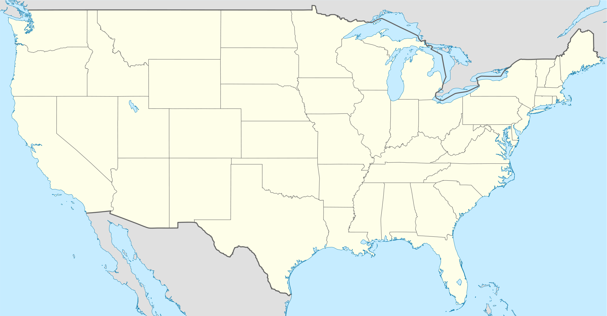 Large Map Of United States.Usa Location Map Mapsof Net