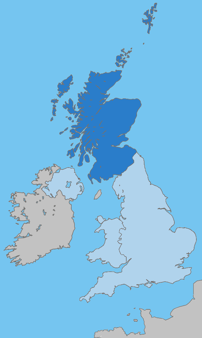 Uk Map Home Nation Scotland large map