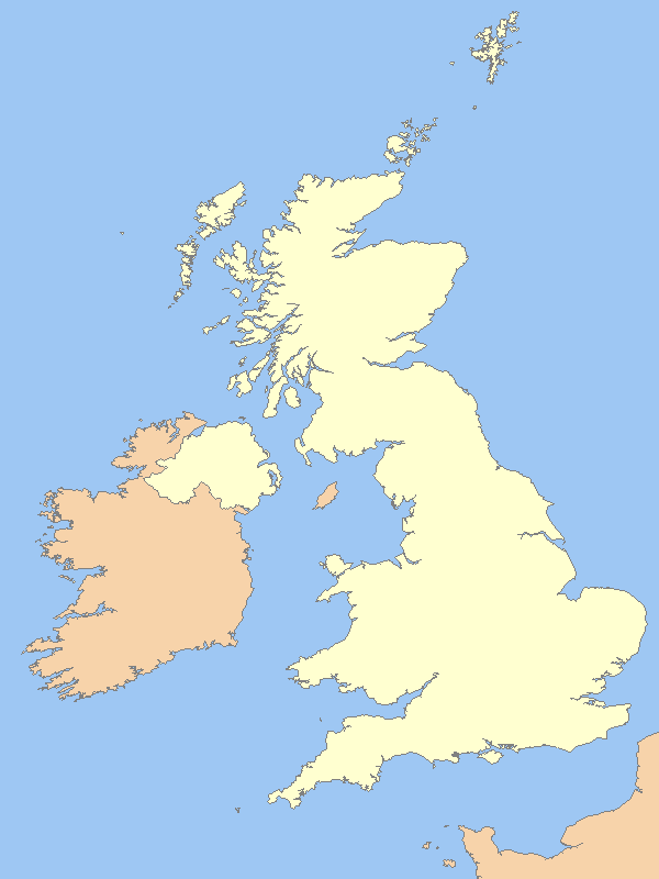 Uk Outline Map large map