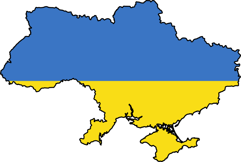 Ukraine Flag Map large map