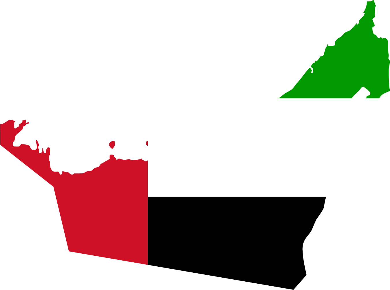United Arab Emirates Flag Map large map