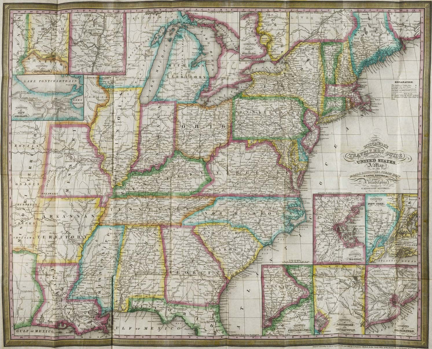 United States Historical Travel Map