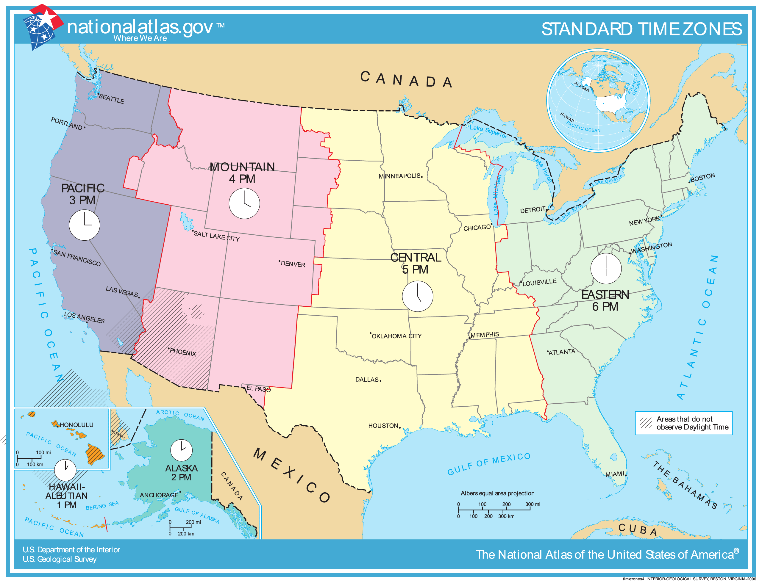 Large Map Of United States.United States Time Zone Map Mapsof Net