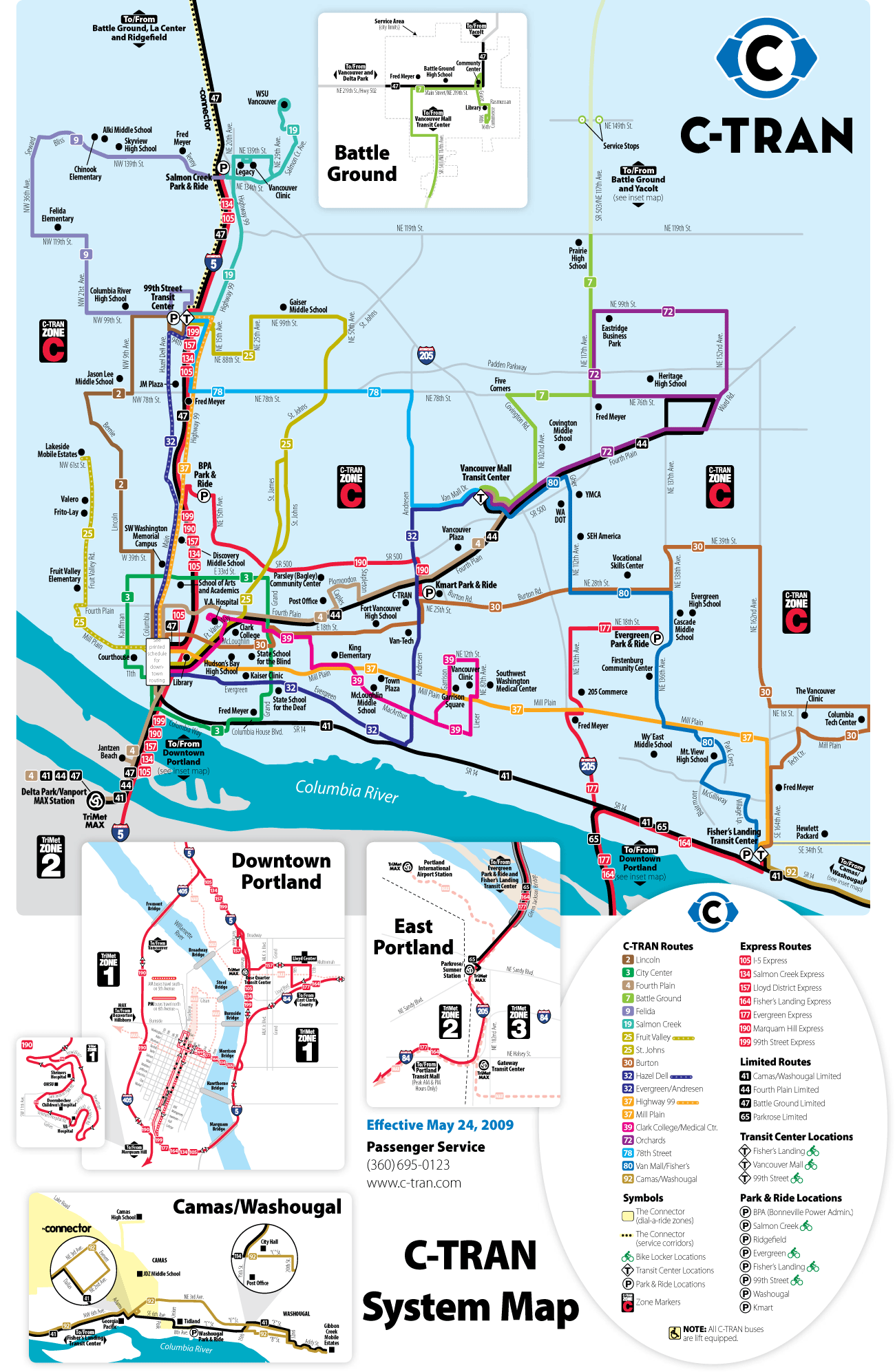Vancouver Light Rail Map (c Train) • Mapsof.net on