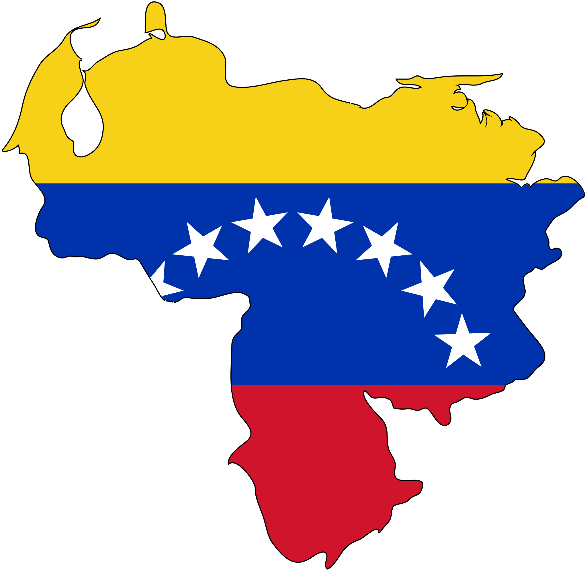 Venezuela Flag Map large map