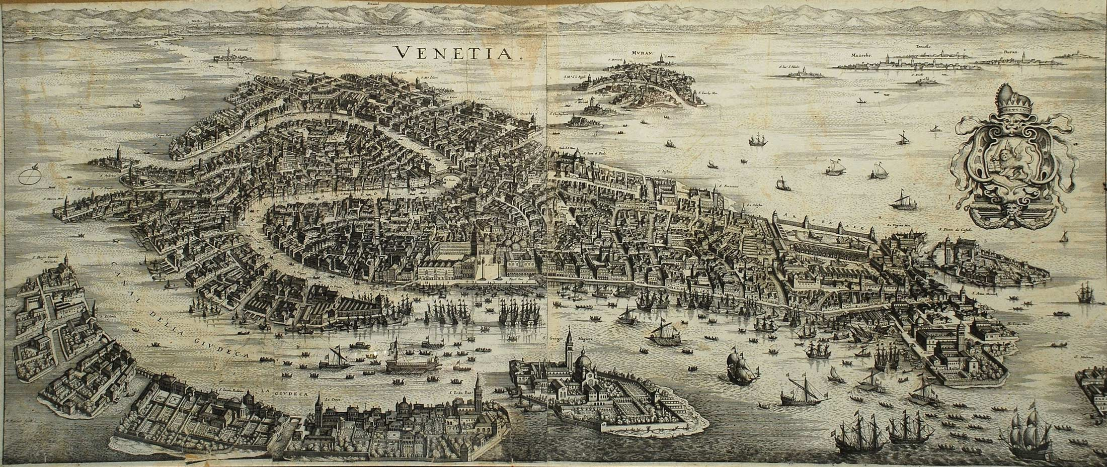 Venice (venezia) Historical Map 1 large map
