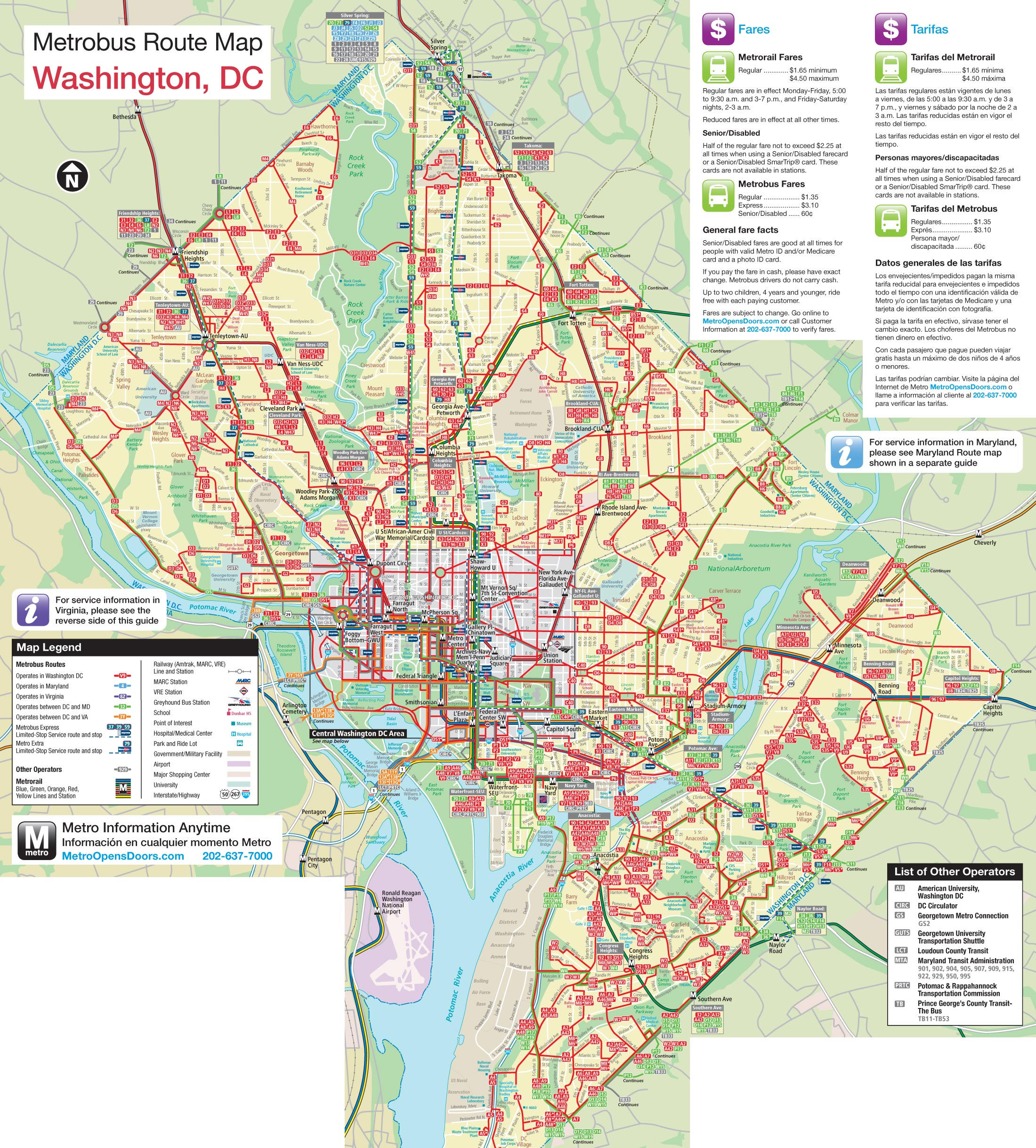 Washington Dc Metrobus Map • Mapsof.net