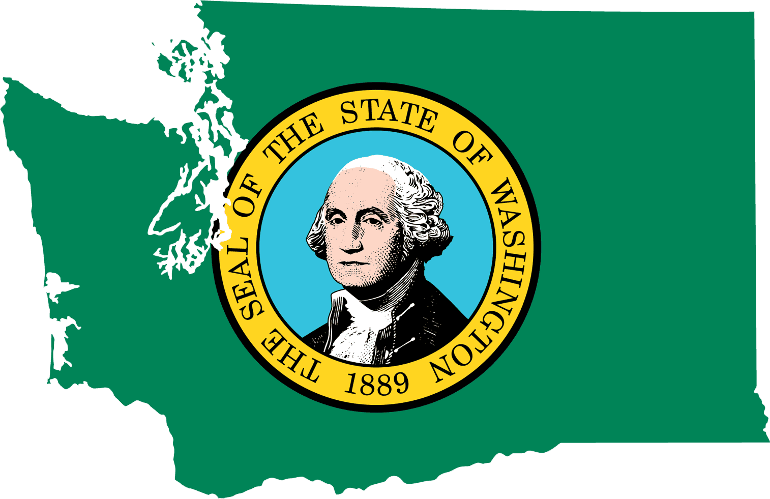 Washington Flag Map