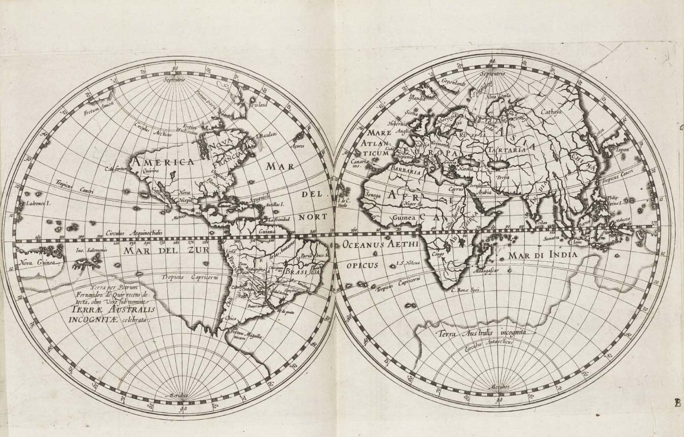 World Historical Map (1612) large map