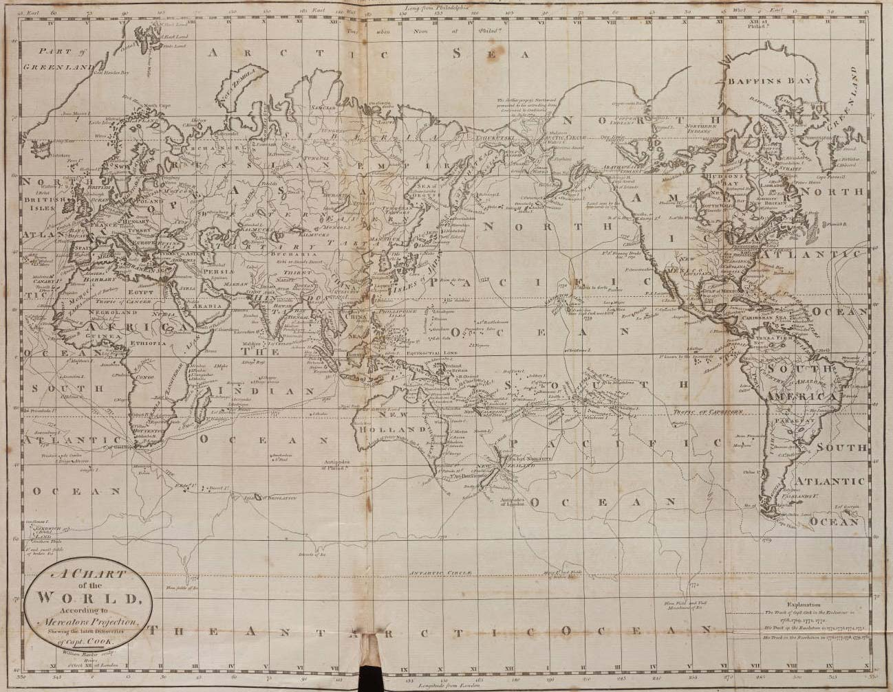 World Historical Map (1796) large map