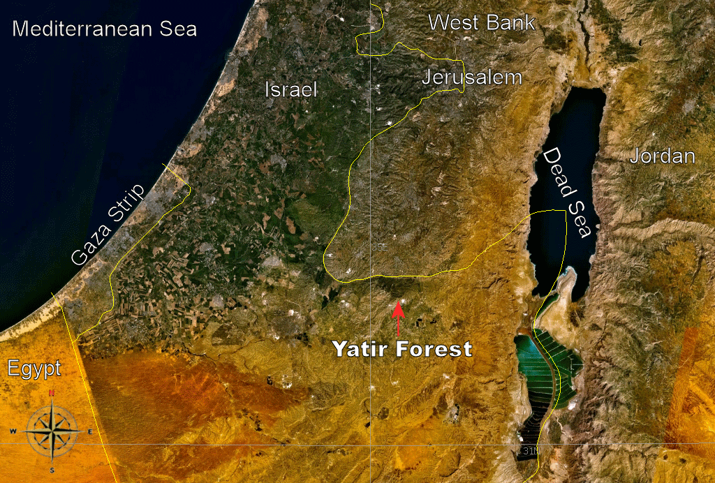 Yatir Forest Israel Location large map
