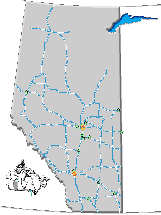 Ab Cities Roads large map