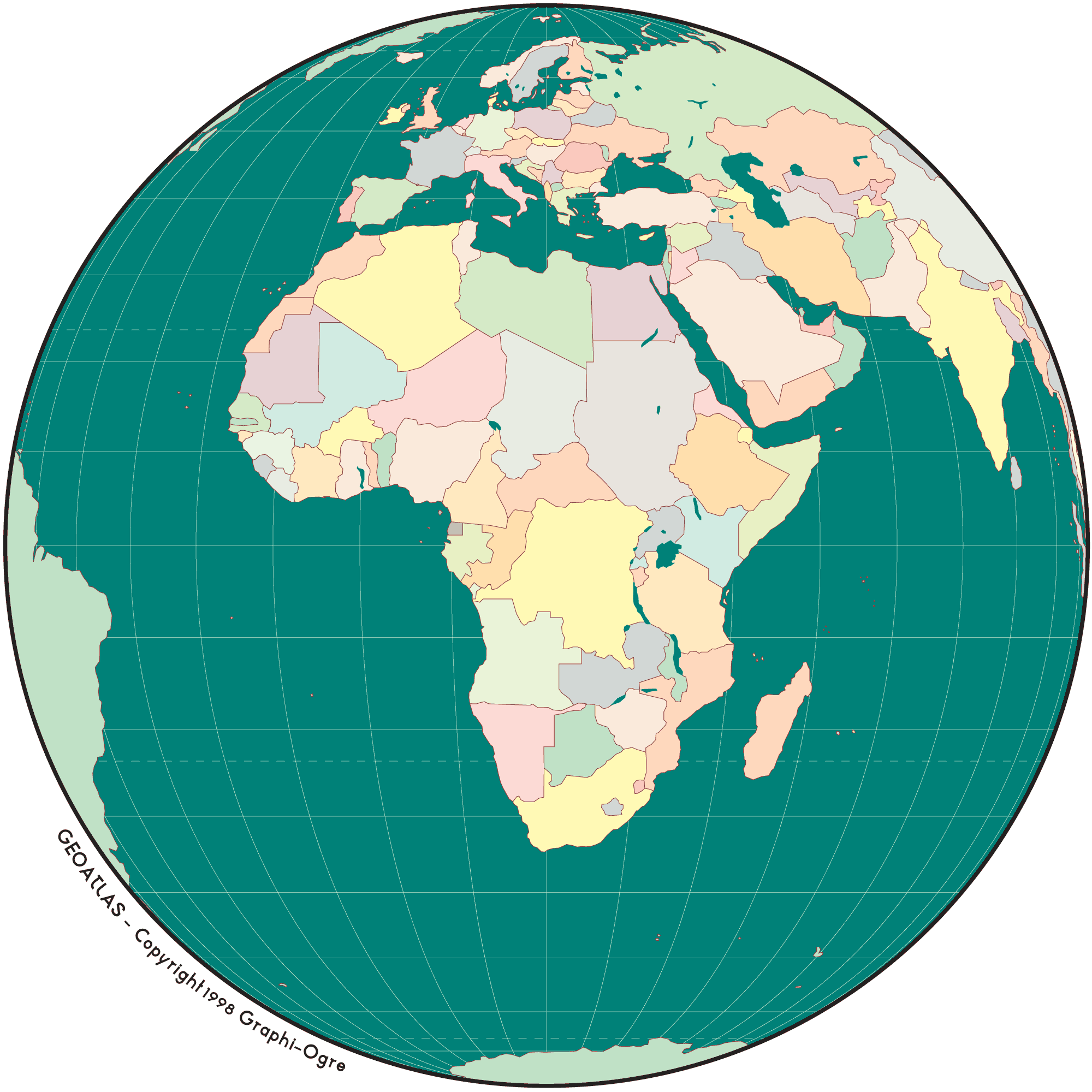 Africa Simple Map Globe • Mapsof.net