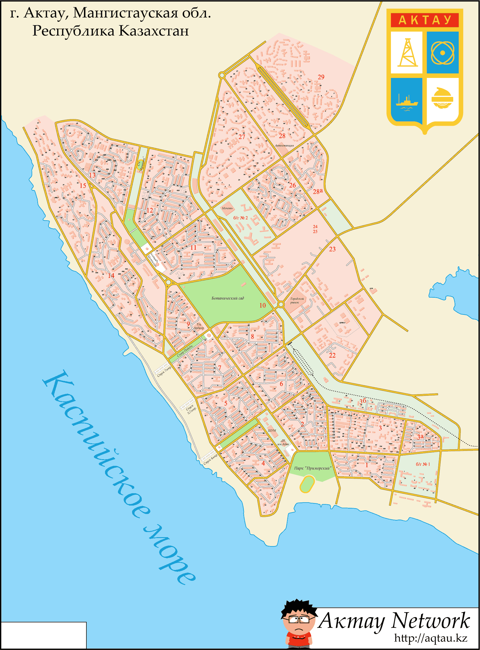 Aktau Plan large map