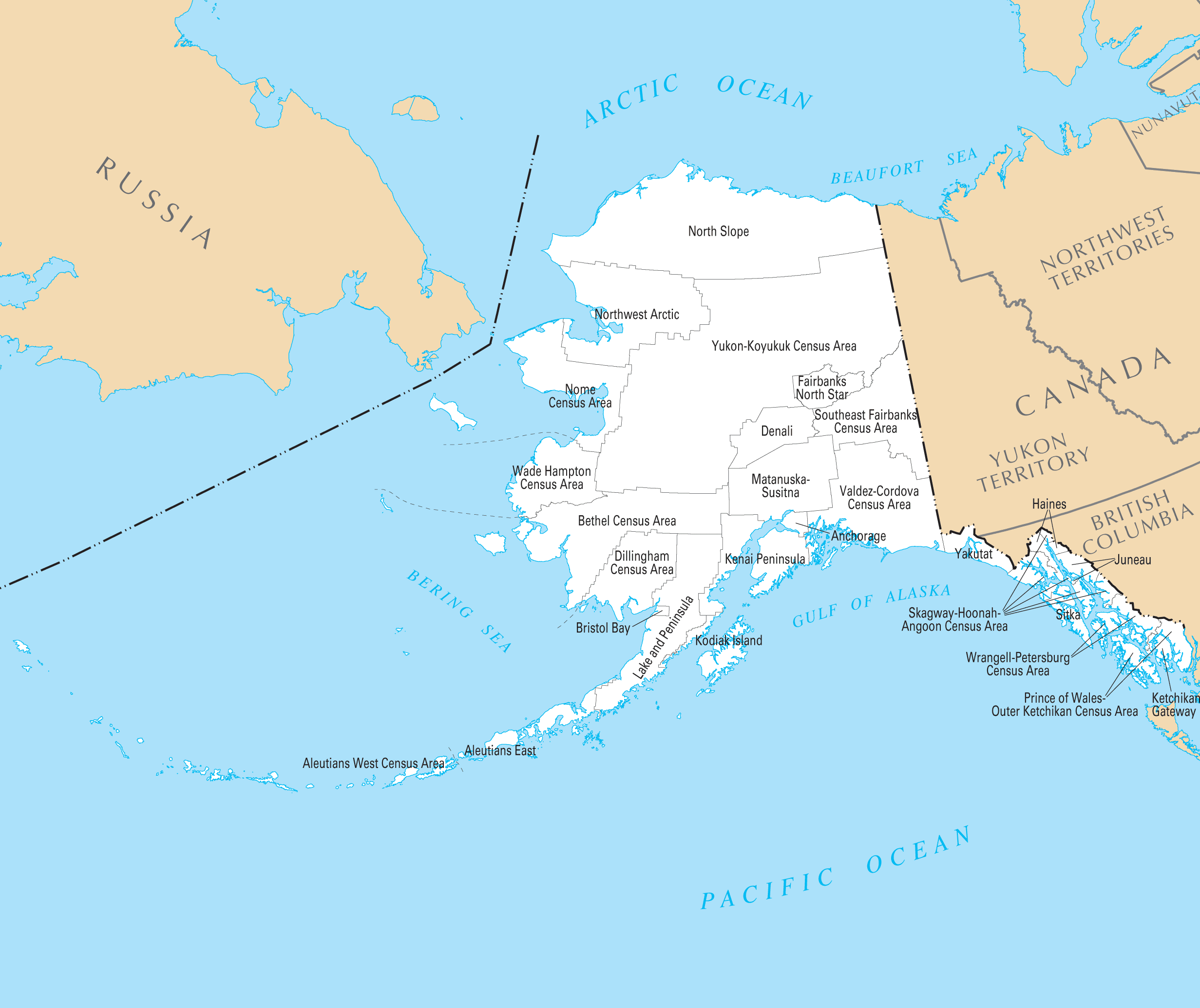 Alaska County Map  Mapsof