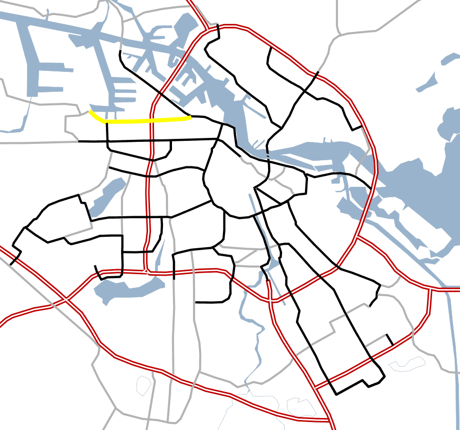 Amsterdam Outline S Roads  S102 large map
