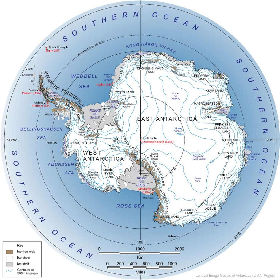 Antarctica Large Map