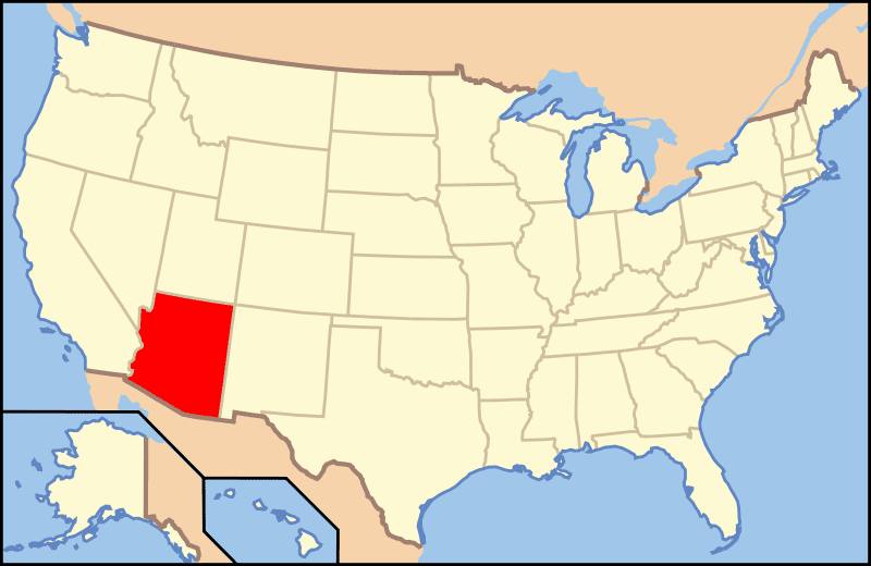 Arizona Location large map