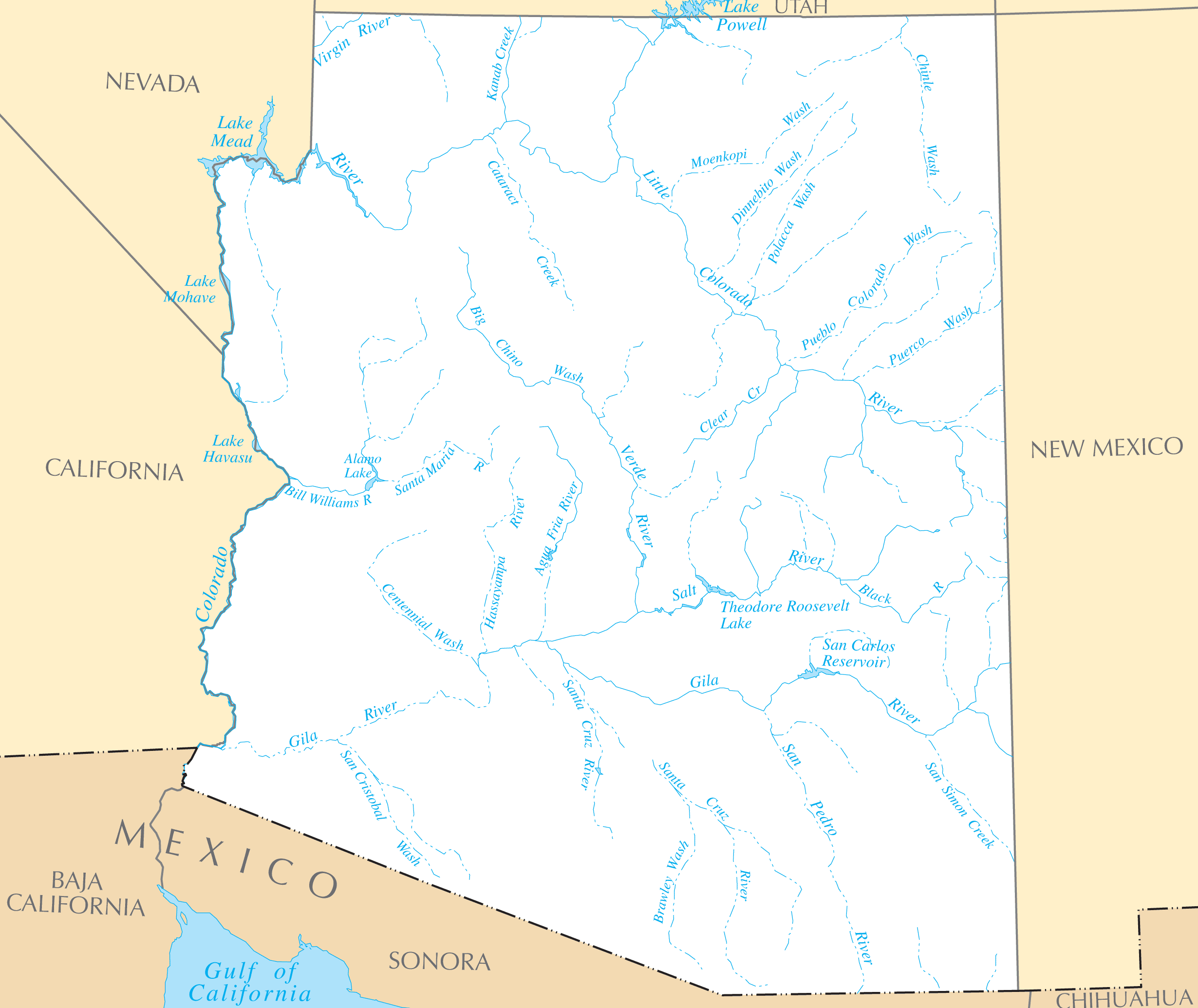 Arizona Rivers And Lakes