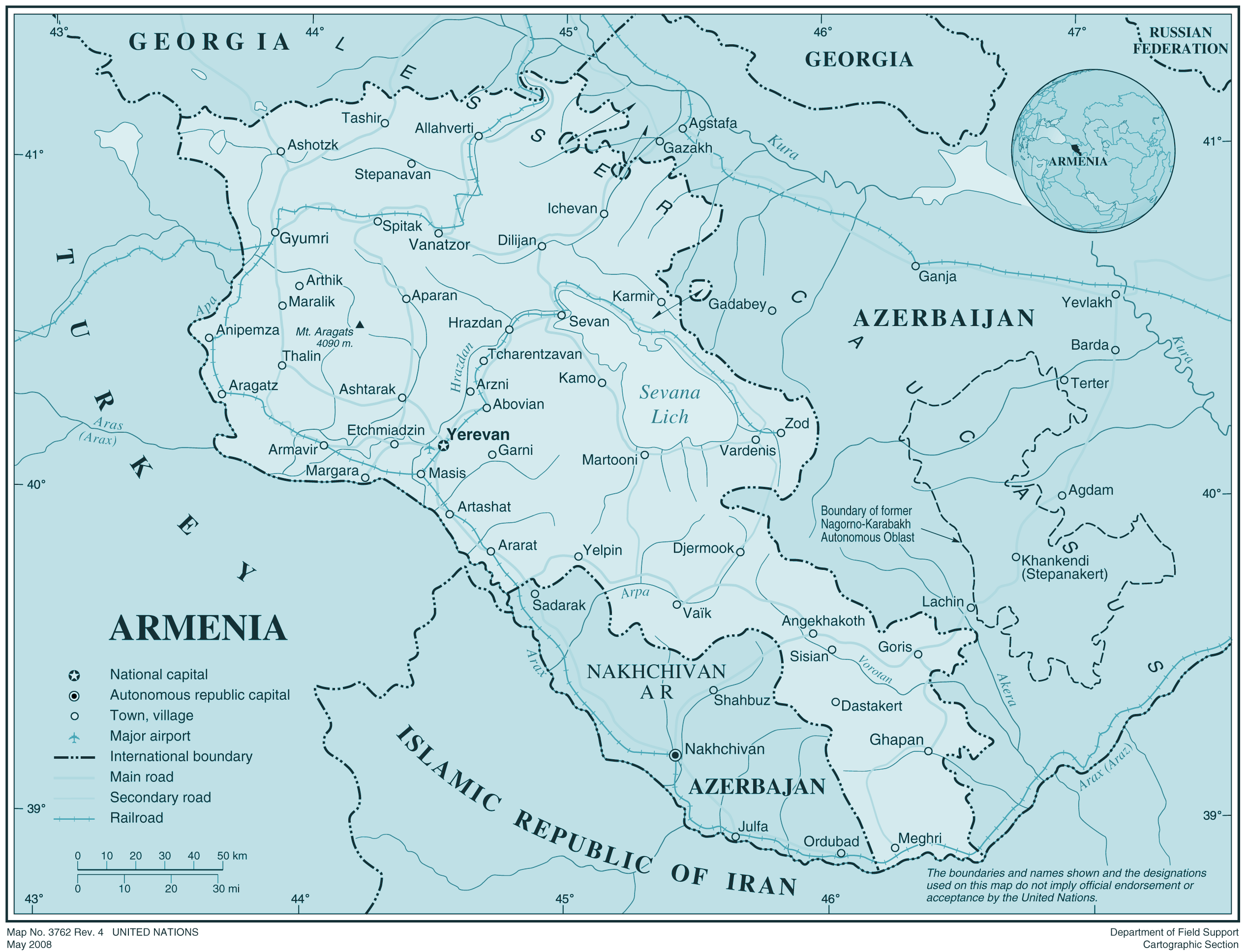 Armenia large map
